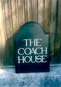 Home Wooden Signs, Custom Wooden Signs, House Signs, Coach House, Wooden House, Hand Carved, Carving, Rustic, Handmade