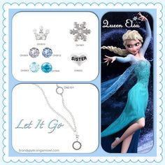 Queen Elsa from Disney's Frozen Origami Owl Living Locket http://www.turnonthecharms.origamiowl.com
