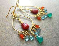 Tropical Getaway Chandelier Earrings http://www.etsy.com/listing/92144920/tropical-getaway-chandelier-earrings?utm_source=Pinterest&utm_medium=PageTools&utm_campaign=Share