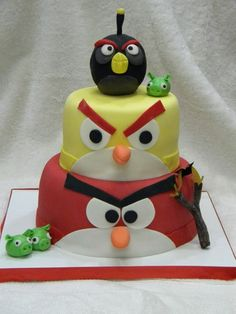 1000 images about angry birds on pinterest angry birds for Angry birds cake decoration kit