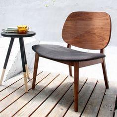 北欧デザインの低めのイス ウォールナットラウンジチェア 座面高さ40cm - インテリア家具通販サイト ショップフェイマス