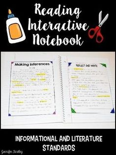 Reading Interactive Notebook with texts for the Common Core Reading Standards. Each page includes a short, focused text (or two for those paired passage standards) and 2-3 questions aligned to the standards. This resource includes a 4th grade and 5th grade version.