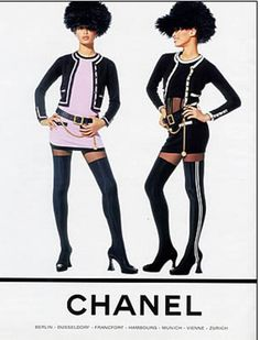 Fashion ads 20 years ago: Brandi Quinones, photographed by Karl Lagerfeld, for Chanel, Fall RTW 1994. (Btw, she was only 16 in these ads! 16 year-olds don't look like that these days!)