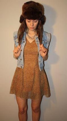Vintage Renewed Leopard Dress by PrudenceandAustere on Etsy, $42.00