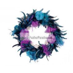 Purple Feather Wreath Wedding and events decoration Centerpieces Wholesale Bulk cheap discount