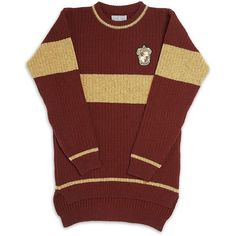 Harry Potter Gryffindor Quidditch Sweater 8-10yrs ($140) ❤ liked on Polyvore...love it!!