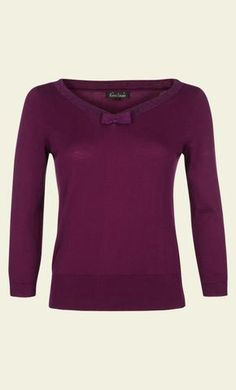 KING LOUIE Bow Top Knit Lapis Striking Purple