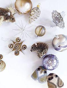 Wood Curl Shape Ornaments Set of Three