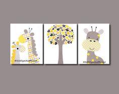 Giraffe Nursery Artwork Print Baby Artwork by 3000yardsofthread