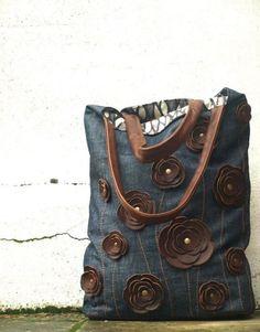 Jean reciclado bolsos 9