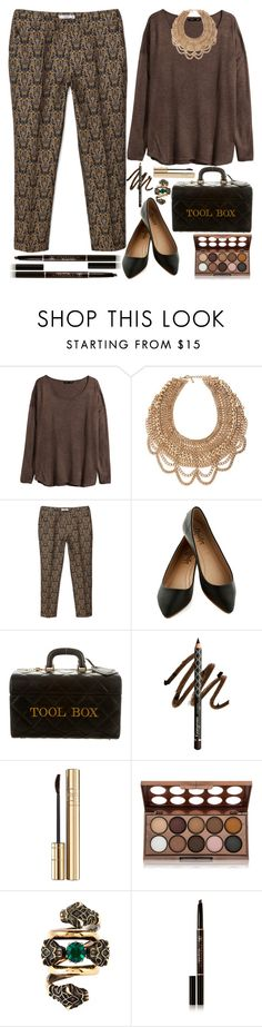 """""""Oversized jumper"""" by grozdana-v ❤ liked on Polyvore featuring H&M, BaubleBar, MANGO, Moschino, Gorgeous Cosmetics, Dolce&Gabbana, NYX, Gucci, Anastasia Beverly Hills and women's clothing"""