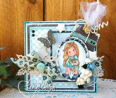 """by Janiel Corley of My little pieces of Art...uses a Magnolia Stamp """"Summer…"""