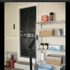 I like the way the hooks are in the garage area. Wet coats, etc....love it!