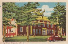 Postcard High School Bridgewater NC Canada Nova Scotia, High School, Canada, World, Painting, Ebay, Vintage, Grammar School, Painting Art
