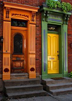 Doors Mexican War Streets, Pittsburgh, Pennsylvania