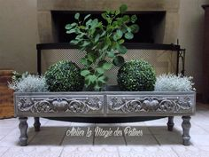 Décorer Decoration Chic, Shabby, Plants, Recycled Wood, Old Mirrors, Fireplace Mantle, Wood Pieces, Chalkboard, Plant