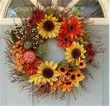 autumn decorating ideas » Bright Bold and Beautiful Blog Wreath Crafts, Diy Wreath, Door Wreaths, Wreath Ideas, Etsy Wreaths, Autumn Wreaths, Holiday Wreaths, Autumn Decorating, Decorating Ideas