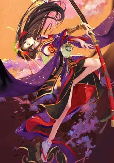 Reality is just an opinion Anime Kimono, Manga Art, Manga Anime, Anime Art, Katana Girl, Samurai, Anime Ninja, Ninja Girl, Anime Kunst
