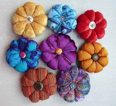 Pin cushions by Karen Cattoire, via Flickr