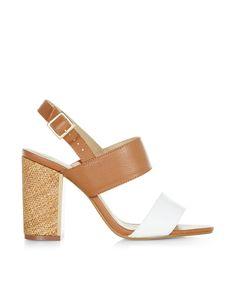 Sandales à talons blocs formées de deux bandes Dal