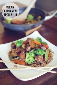 Clean Eating Menu for the week of April 8 - 14