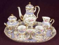 Mini Footed Tea Set w/Tray - picclick.com