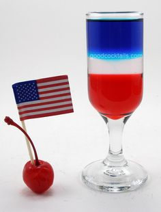 Good Cocktails - American Flag Mixed Drink Recipe