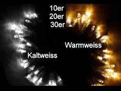 10er 20er 30er LED Lichterkette Batterie kaltweiss oder warmweiss