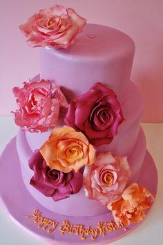 Birthday Cakes New Jersey - Sugar Flowers Custom Cakes