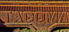 Cool old sign found at the port of Tacoma.