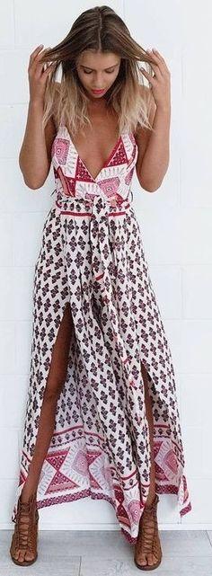#summer #mishkahboutique #outfits | Boho Print Jumpsuit