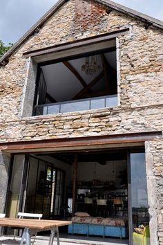 38 Ideas home exterior french country bedrooms Brick Bedroom, Bedroom Rustic, Casa Patio, Barn Renovation, Farmhouse Renovation, French Country Bedrooms, Double Barn Doors, French Farmhouse, Farmhouse Ideas