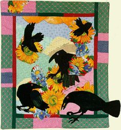 Crow Quilts | Sunflower Feast ~♪