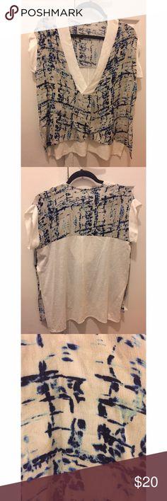NWOT Zara cropped short sleeve Flowy cropped short sleeve, NWOT Zara Tops Blouses
