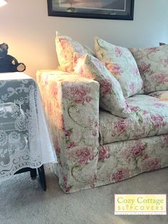 Cozy Cottage Slipcovers Custom Slipcovers, Romantic Roses, Cozy Cottage, Love Seat, Upholstery, Couch, Ohio, Furniture, Website