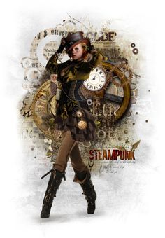 """""""Steampunk"""" by anaweston ❤ liked on Polyvore"""