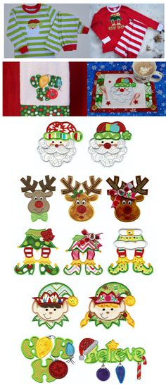 Embroidery |Applique Embroidery Designs | Here Comes Santa Claus Applique from Designs by JuJu. Have. Love this idea on the small coffee place mats.