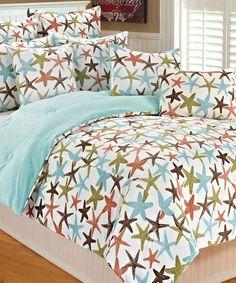 Look what I found on #zulily! Atlantis Starfish Microplush Bedding Set #zulilyfinds  #thro #throbyml #marlolorenz #bedding #microplush #kids #nautical #coastal #comfort #style #fashion #design #prints #patterns #sand #starfish #beach #summer #share #like #follow #love #design #redecorate #bedroom