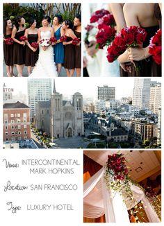 San Francisco wedding venues on I do Venues | Intercontinental Mark Hopkins by Kinsley Wong Photography.