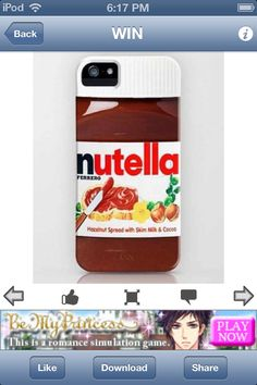 Funny iPhone 6 Case For Funny LOvers. Making funny iphone 6 cases collection that make you feel funny, protect iphone 6 Food Iphone Cases, Funny Iphone Cases, Cute Phone Cases, Coque Smartphone, Coque Iphone 6, Nutella, Cool Cases, New Iphone, Apple Iphone