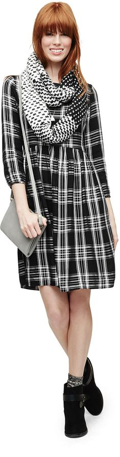 Hello, perfect plaid winter dress. | Old Navy