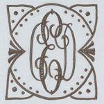 Really like the surround around this monogram!