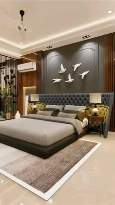 Modern Luxury Bedroom, Luxurious Bedrooms, Luxury Living, House Roof Design, Bungalow House Design, Living Room Sofa Design, Master Bedroom Design, Dream Home Design, Home Interior Design