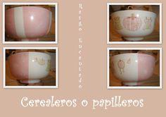 Cerealeros - Pintura sobre porcelana