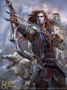 Cazador y lobo evolved legend of the cryptids