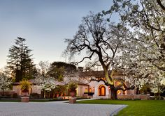 Masterfully crafted Italianate Villa completed in 2002.  Architectural design by Stephen Arnn, Arnn Gordon Greineder, construction by Lencioni Construction, interior design by Wheeler Design Group, decorative painting by Evans & Brown, landscape architecture by Chandler & Chandler