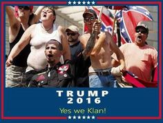 World class citizens pose for favorite poster for Trump. Adorable aren't they? :-)