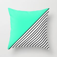 Buy Mint Stripes by Hannah Ison as a high quality Throw Pillow. Worldwide shipping available at Society6.com. Just one of millions of products available.