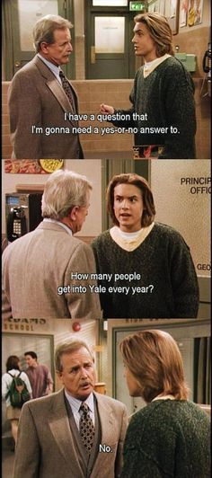 Probably one of my fave Boy Meets World quotes :)