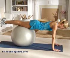 yoga ball pushups